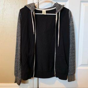 Two-Tone Black Fleece Jacket